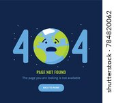 404 error page not found.... | Shutterstock .eps vector #784820062