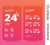 weather forecast app ux ui... | Shutterstock .eps vector #784820722