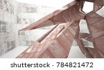 empty abstract room interior of ... | Shutterstock . vector #784821472