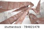 empty abstract room interior of ... | Shutterstock . vector #784821478