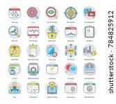 set of digital and internet... | Shutterstock .eps vector #784825912