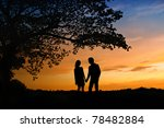 romantic scene of love | Shutterstock . vector #78482884