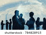 business and technology concept. | Shutterstock . vector #784828915
