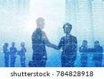 business and technology concept. | Shutterstock . vector #784828918
