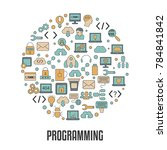 coding and programming concept. ... | Shutterstock .eps vector #784841842