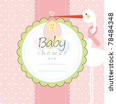 baby shower greeting card | Shutterstock .eps vector #78484348