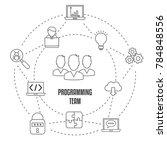 concept of creative teamwork... | Shutterstock .eps vector #784848556