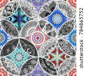 colorful floral seamless... | Shutterstock .eps vector #784865752