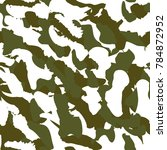 camouflage seamless pattern.... | Shutterstock .eps vector #784872952