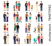 heterosexual couples and... | Shutterstock . vector #784875982