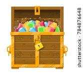 treasure chest full of various... | Shutterstock .eps vector #784876648