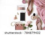 fashion feminine blogger... | Shutterstock . vector #784879432