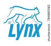 lynx the big cat logo   Shutterstock .eps vector #784885582