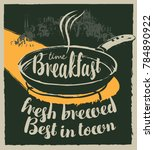vector banner for a cafe with... | Shutterstock .eps vector #784890922