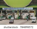 Small photo of SHAH ALAM MALAYSIA -2 JANUARY 2017: For 25 years, The Sungai Rasau toll plazas located along the Federal Highway will be abolishment and demolished in a month's time.
