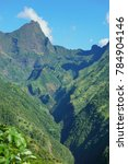 tahiti island mountain  the... | Shutterstock . vector #784904146