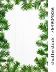 christmas fir tree twigs on the ... | Shutterstock . vector #784904836