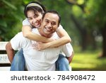 happy young couple together... | Shutterstock . vector #784908472