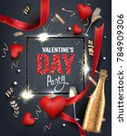 valentine's day  party... | Shutterstock .eps vector #784909306