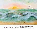 Painting Sunset At Sea....