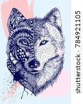 Abstract Wolf Illustration ...