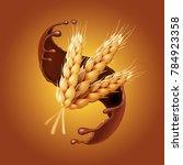 bunch of wheat  or barley ears... | Shutterstock .eps vector #784923358