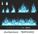 collection of realistic fire... | Shutterstock .eps vector #784924402