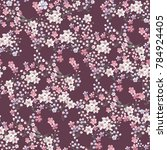 seamless vintage floral pattern ... | Shutterstock .eps vector #784924405