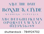 save the date  fashion and... | Shutterstock .eps vector #784924702