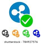 valid ripple coin icon. vector... | Shutterstock .eps vector #784927576