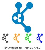 ripple connect nodes icon.... | Shutterstock .eps vector #784927762