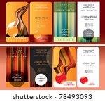 business cards design set | Shutterstock .eps vector #78493093