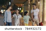 asiam family laughing   walking ... | Shutterstock . vector #784932172