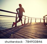 sporty fitness female runner... | Shutterstock . vector #784933846