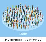professional society isometric... | Shutterstock . vector #784934482