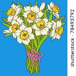 Bouquet  Of Narcissuses  Vector