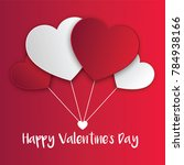 happy valentines day hearts... | Shutterstock .eps vector #784938166