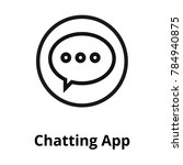 chatting app line icon | Shutterstock .eps vector #784940875
