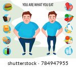 vector illustration of fat and... | Shutterstock .eps vector #784947955