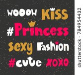 wow kiss princess sexy fashion... | Shutterstock .eps vector #784954432