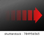 vector red transparent dashed... | Shutterstock .eps vector #784956565