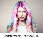 beauty fashion model girl with... | Shutterstock . vector #784959046