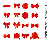 vector red bow for decorating... | Shutterstock .eps vector #784961818