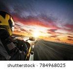 two motorbike's riders heading... | Shutterstock . vector #784968025