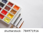 watercolors  brushes for...   Shutterstock . vector #784971916