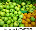 fresh apples with oranges close ... | Shutterstock . vector #784978072