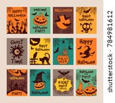 halloween party invitation... | Shutterstock . vector #784981612