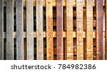 Small photo of Wooden Planks Texture Background of Cargo Pallet