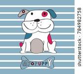 cute dog cartoon vector...   Shutterstock .eps vector #784982758