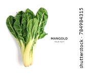 creative layout made of mangold.... | Shutterstock . vector #784984315